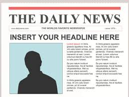 newspaper headline  Hand hold Blank Newspaper with empty space mock up on wood background Stock wikiHow