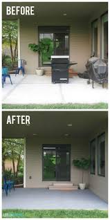 Backyard Cement Patio Ideas by Best 25 Painted Concrete Patios Ideas Only On Pinterest