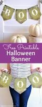 printable halloween banner free printable halloween boo banner fun halloween decorating idea