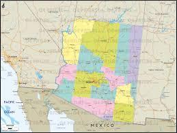 Map Az Geoatlas United States Canada Arizona Map City Illustrator