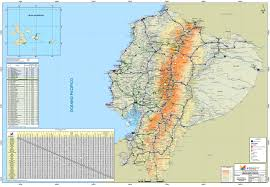 Map Of The South America by Large Scale Road Map Of Ecuador With All Cities Ecuador South