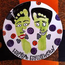 here u0027s a fun idea halloween footprints ceramic paint your own