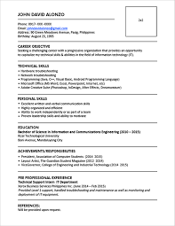 Cv For Freshers Bcom  resume format for freshers b com free     Cv Vitae Format In Ms Word Free Download Free Microsoft Curriculum Vitae Cv  Templates Curriculum Vitae