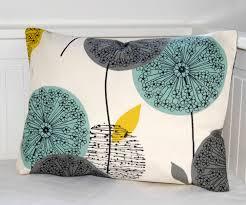 cheap decorative pillows for sofa decorative pillow cover teal grey mustard dandelion sofa cushion