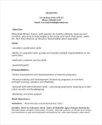 Sample Personal Resume by Personal Trainer Resume Template 7 Free Word Pdf Document