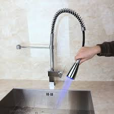dree led kitchen faucet with pull out sprayer