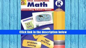 free download skill sharpeners math kindergarten evan moor