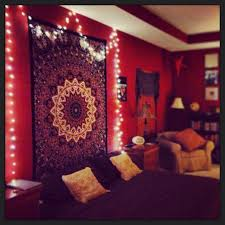 Red Bedroom by Bohemian Room House Exteriors And Interiors Pinterest Hippy