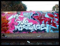 The Message graffiti
