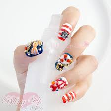 bling up inc nautical sailor marine cute summer 3d nail art