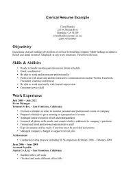 Sample Resume Objectives Warehouse Worker by Clerical Resume Objective Free Resume Example And Writing Download
