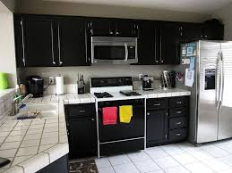 kitchen wall mount black painted kitchen cabinet design black