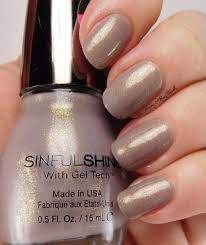 sinful colors prosecco nail polish swatch review be happy and