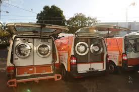 a kitchen bathroom and laundry on wheels