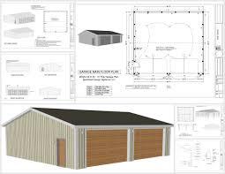 Garage Floor Plans Free Pole Barn Construction Plans Barn Decorations