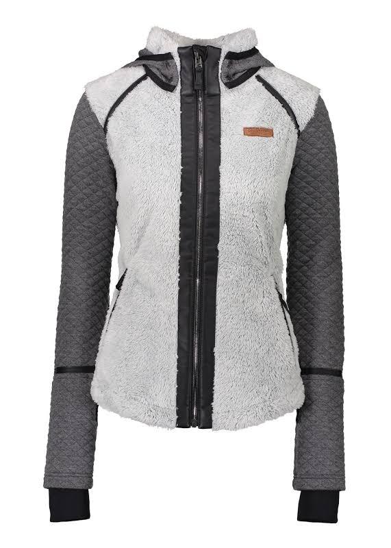 Obermeyer Stella Fleece Jacket Fog Extra Small 17035-FOG-XS