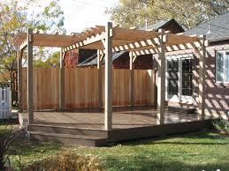 Deck Pergola Ideas by Deck With Pergola Plans Design Interesting Decks With Pergolas