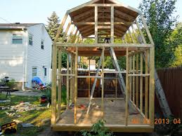 Gambrel Roof Gambrel Roof Shed Youtube