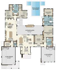 4 bed modern house plan with upstairs in law suite 430006ly