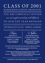 Reunion Cards Invitation Cool Blue Themed With Reunion Invitation Template Example And