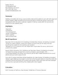 Liaison Resume Sample by Professional Wedding Consultant Templates To Showcase Your Talent