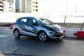 nissan leaf vs chevy bolt first drive chevy bolt ev 200 mile electric car development vehicle