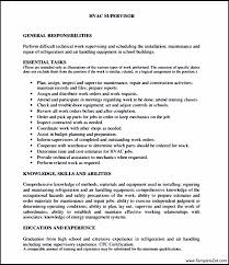 Examples Of Hvac Resumes by Hvac Resume Template Sample Hvac Resume Air Conditioning S Resume