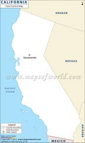 Blank Map Of The United States Of America by California Blank Map With County Boundaries California Outline Map
