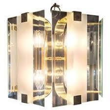 Fredrick Ramond Chandelier by Plastic Geode Three Light Hanging Fixture By Frederick Raymond At