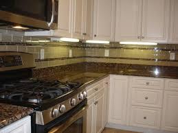 Pictures Of Kitchen Tile Backsplash Cream Kitchen Backsplash With Glass Tiles U2013 Home Design And Decor