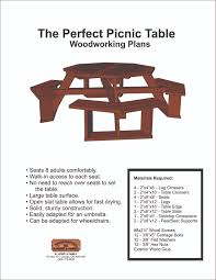 Plans For Wood Picnic Table by Picnic Table Design Plans Plans Plans For Outdoor Tables