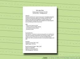 Secretary Job Description For Resume by How To Write A Resume For A Secretarial Job 11 Steps