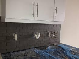 kitchen mosaic tile backsplash glass tile backsplash grey
