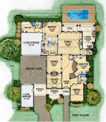 Best Selling House Plans Villa Barbaro Courtyard House Plan Best Selling House Plan