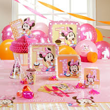1st Birthday Decoration Ideas At Home Minnie Mouse 1st Birthday Party Ph D Serts U0026 Cakes