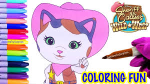 sheriff callie coloring page sheriff callie u0027s wild west coloring