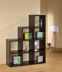 Modern Contemporary Bookshelves by Furniture Beautiful Bookshelf Room Divider With White Tripod