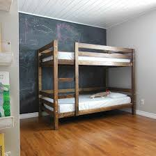 Wood Bunk Beds Plans by Come See How We Built A Simple Diy Bunk Bed For Our Kids Bedroom