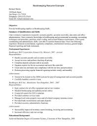 Accounts Payable Resume Skills Bookkeeper Job Description For Resume Free Resume Example And