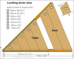 Building Plans For Picnic Table Bench by Best 25 Octagon Picnic Table Ideas On Pinterest Picnic Table