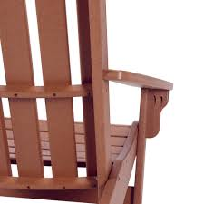Wooden Chair Front View Png Shop Durawood Essentials Adirondack Chairs On Sale