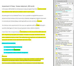 Example assignment marked in PDF Flinders Learning Online