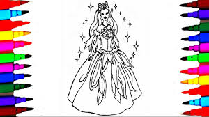girls barbie princess coloring pages l coloring barbie and ken