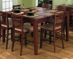 dining room brown wood costco dining table with high ergonomic