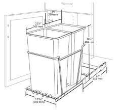 double pull out waste containers rta cabinet store