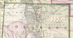 Map Of Colorado by File 1866 Boulder Detail Map Of Kansas Nebraska And Colorado By