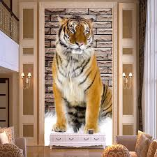 popular tiger wall murals buy cheap tiger wall murals lots from lifelike tiger photo wall mural for living room entrance corridor modern home decor non woven