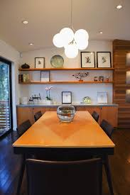 built in credenza dining room modern with wall shelves cone