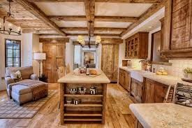 stunning rustic country kitchen decor ideas with brown rustic wood