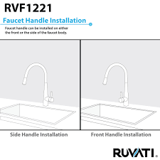 ruvati rvf1221b1bn pull down kitchen faucet with deck plate